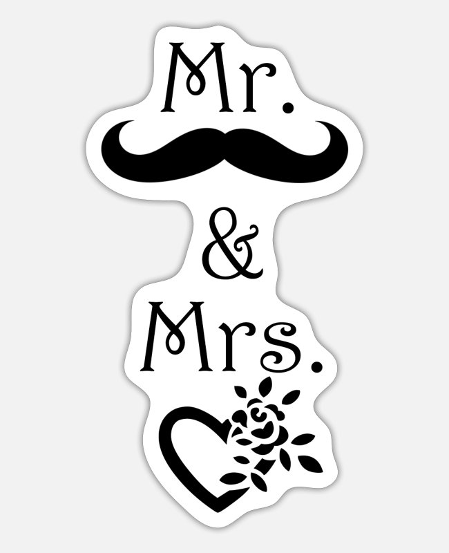 Engagement Stickers - VALENTINE'S DAY - Sticker white matte