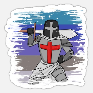Templar Templar sword cross - Sticker