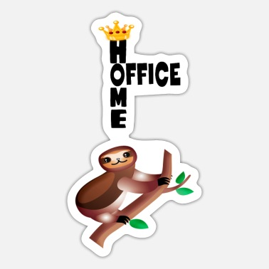 Home Office Man Home office sloth - Sticker