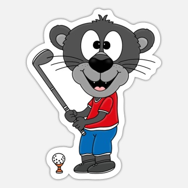 Comics Panter - Golf - Dier - Kinderen - Baby - Strip - Sticker