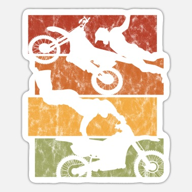 Extreme Motorcycle Retro Motorcross Stunt Enduro Motocross - Sticker