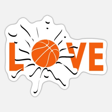 I Love Basketball I love basketball I love basketball - Sticker