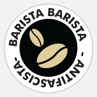Coffeeshop Barista Coffee Milk Coffeeshop Coffee Bean - Sticker
