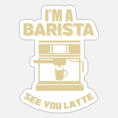 Coffeeshop Barista Latte Coffeeshop coffee machine - Sticker