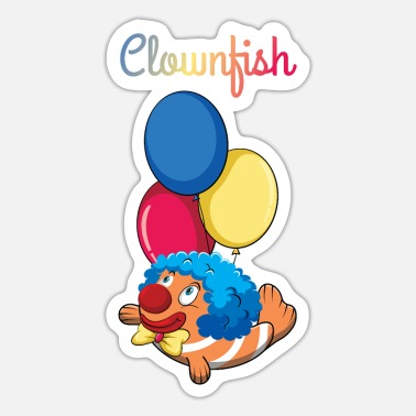Visser Grappige Clownfish Aquarium Fish Animal Pun Clown - Sticker