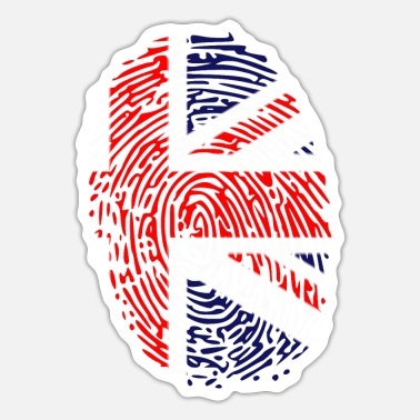 Union Jack Fingerabdruck Fingerabdruck UK - Sticker