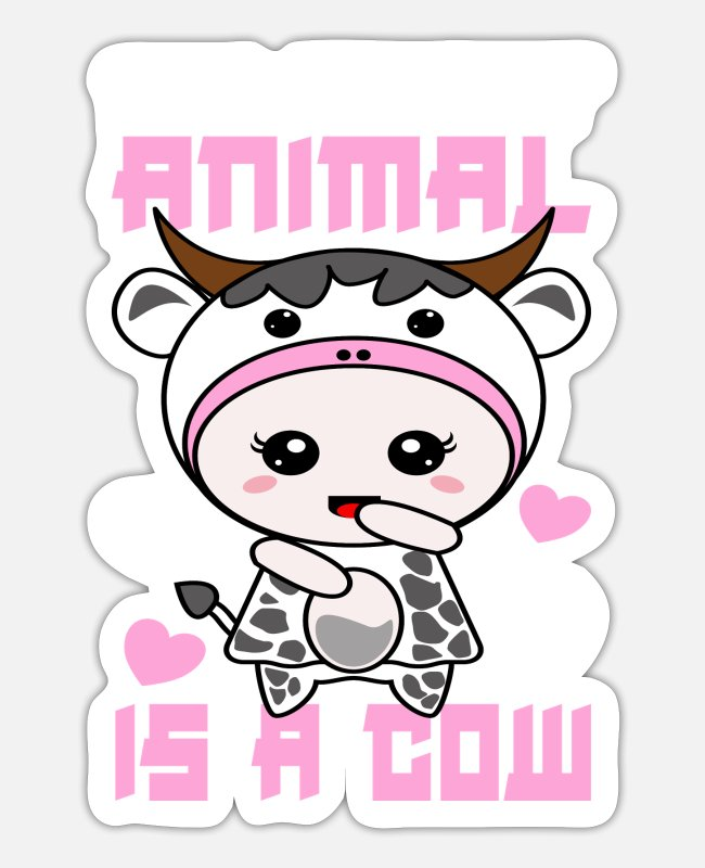 Dairy Cow Stickers - My Spirit Animal Is A Cow I Muh Kuh Kuhbauer - Sticker white matte