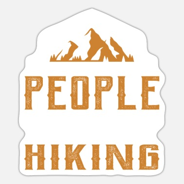 The more people I meet the more I hike. - Sticker