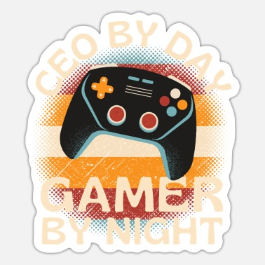 Pro Gamer Boss By Day Gamer By Night - Sticker