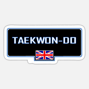 Korean MATS129 Taekwon do GB Flag - Sticker