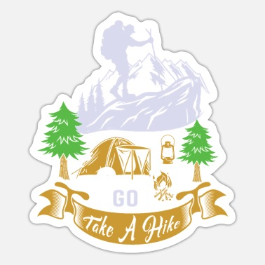 Bozen Go out and hike. - Sticker
