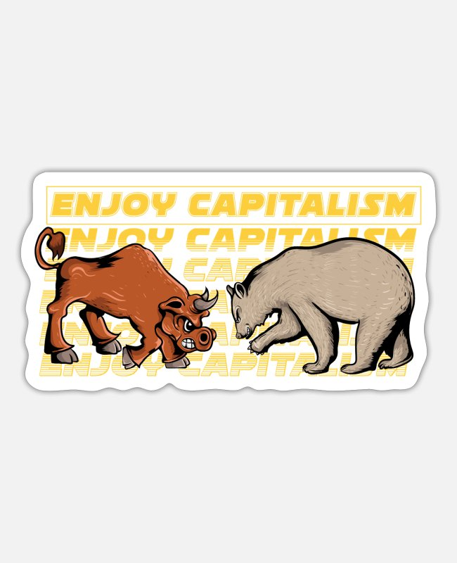 Money Stickers - Share Shareholder Stock Exchange ETF Yield Dividend - Sticker white matte