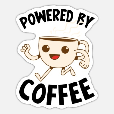 Office Powered by Coffee cup gift - Sticker