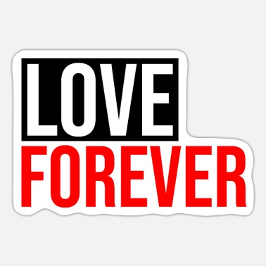 Red love forever - Sticker