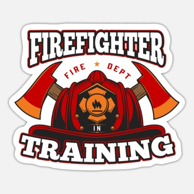 Daddy Firefighter in Training Proud Fireman Hero Job USA - Sticker