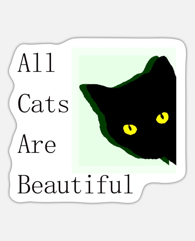 Chaot Stickers - all cats are beautiful - Sticker white matte
