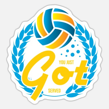 Love Volleyball Sports Gift You Just Got Served - Sticker