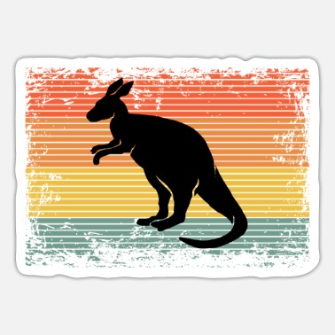 Australia Vintage Kangaroo Animal Gift Idea - Sticker