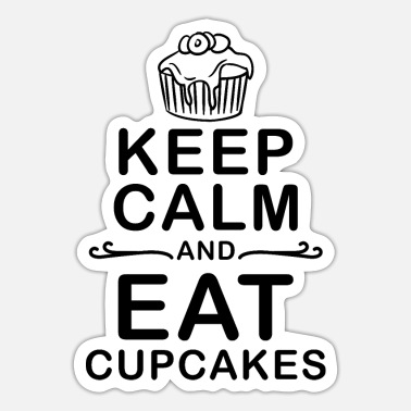 Cakes Funny cupcake saying muffin design gift - Sticker