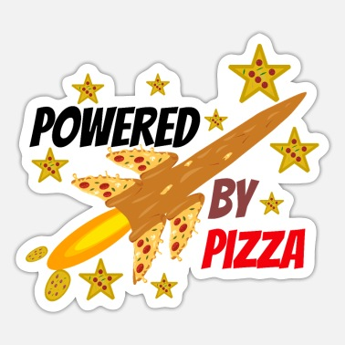 Pizza is my Life, Pizza, Power und Rakete. Sticker - Sticker