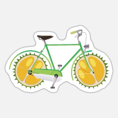 Race Bicycle Durian Wheels Bike Riding Cycling Biker - Sticker