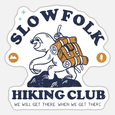 Alpine Club Slowfolk Hiking Club - Sticker