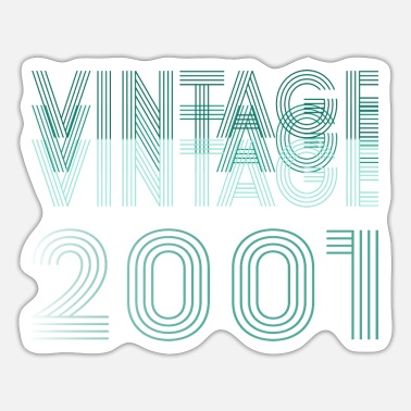 2001 Vintage 2001, born 2001, birthday 2001 - Sticker