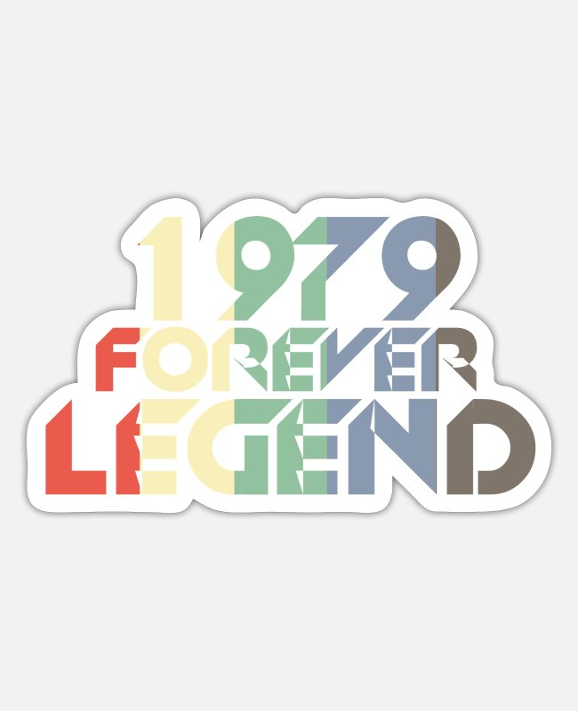 Legend Stickers - Vintage 1979 79th birthday retro vintage gift - Sticker white matte