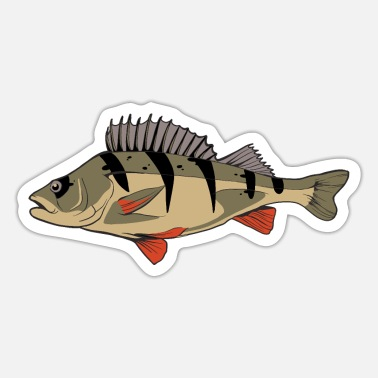 Perch Perch perch perch perch fishing Kretzer - Sticker