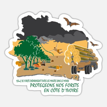 Deforestation No to deforestation in Côte d'Ivoire - Sticker