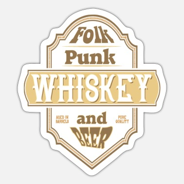 Folk folk punk - Sticker