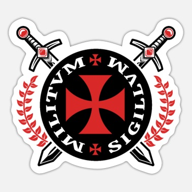 Knights Templar Crusader Templar Emblem Knights Templar Knight - Sticker