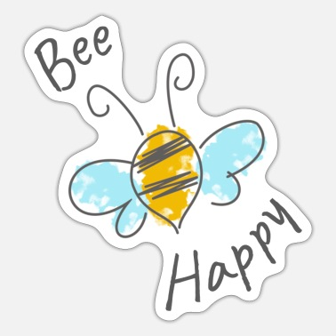 Bumble Bee Bee happy bumble bee - Sticker