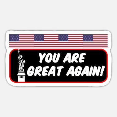 USA America Biden saying - Sticker