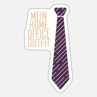 Home Office Man Home office tie team home office gift - Sticker