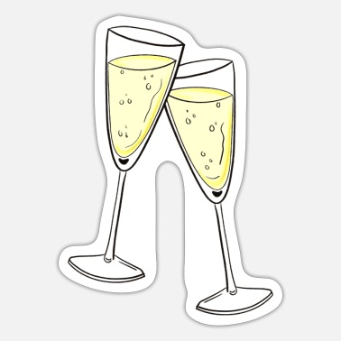 Champagne Glass Champagne glasses - Sticker