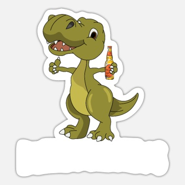 Dinosaur Beerosaurus Funny dinosaur with beer - Sticker