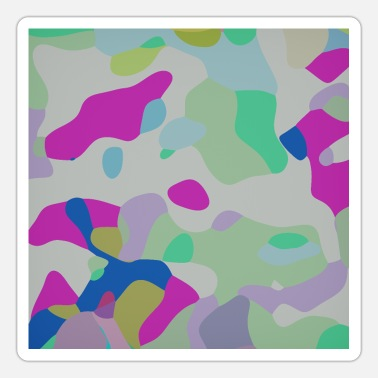 Camouflage Colors Colorful camouflage pattern - Sticker