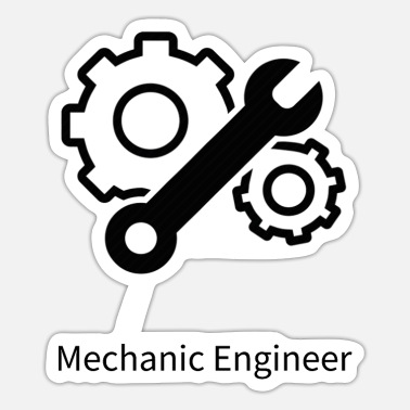 Mechanical Engineering Mechanic Engineer - Sticker