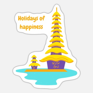 Happiness Holidays happiness - Pegatina