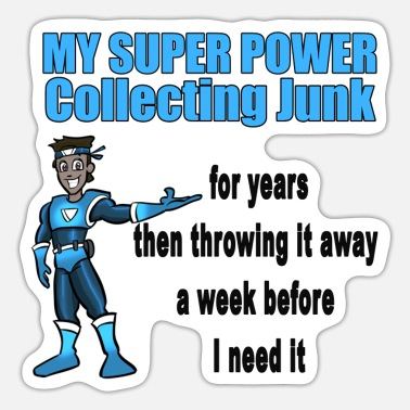Super Power Mein Super Power Junk - Sticker