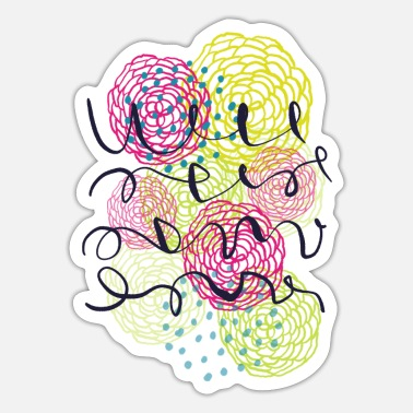 Frieslandgut Pink flowers - Sticker