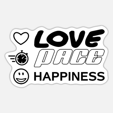 Pace Love Pace Happiness - Sticker