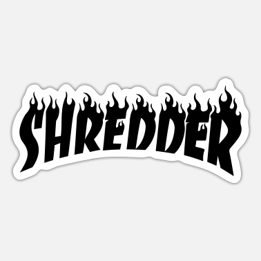 Thrash Shredder Skateboard Skater - Sticker
