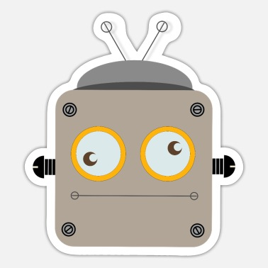 Robot with rolling eyes - Sticker