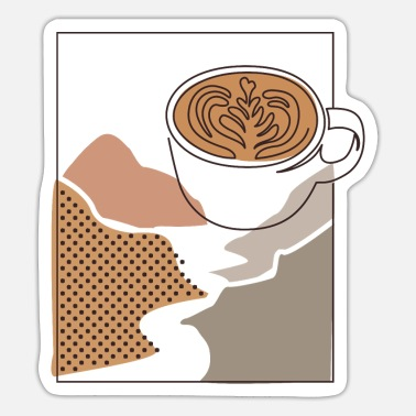 Latte Coffee Latte - Sticker