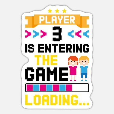 Pregnant Family Gambling Gamer Pregnant Gift - Sticker