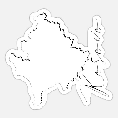 Home Kosovo Map - Shadow EN - Sticker