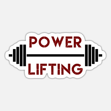Power Lifting Gewichtheben, Power Lifting, Krafttraining - Sticker