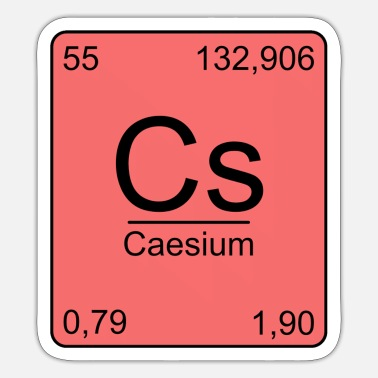 Periodensystem Caesium, Periodensystem, Chemie, Physik, Element, - Sticker